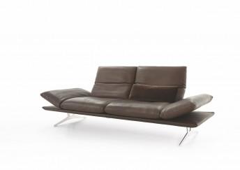 Canapé en cuir ou tissu design AD.SENSO 2.5 places ultra confort