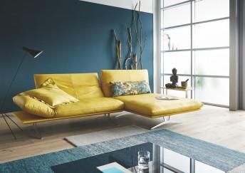 Canapé 2,5 places d'angle design AD.SENSO avec chaise longue large sans accoudoir