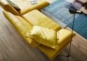 Canapé d'angle design AD.SENSO 2.5 places avec chaise longue large sans accoudoir