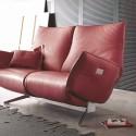 Canapé design JEWEL.RELAX. TM 2 places, assises de relaxation électriques