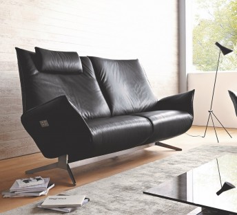 Canapé design JEWEL.RELAX.TM 2.5 places, électrique sur batterie
