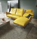 Canapé d'angle design JEWEL.RELAX. TM 3.5 places, 2 assise de relaxation, et sa chaise longue