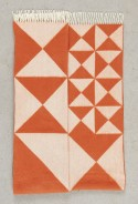 Plaid Verpan MIRROR en pure laine Mérino orange