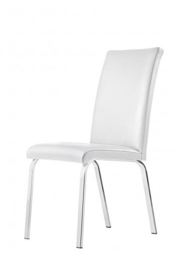 Chaise design LOFTY.M : lot de 4 chaises 4 pieds ou luge cuir ou tissu