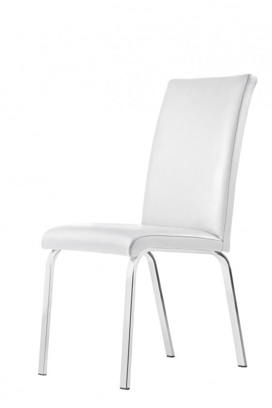 Chaise LOFTY.M : lot de 4 chaises design 4 pieds ou luge cuir ou tissu