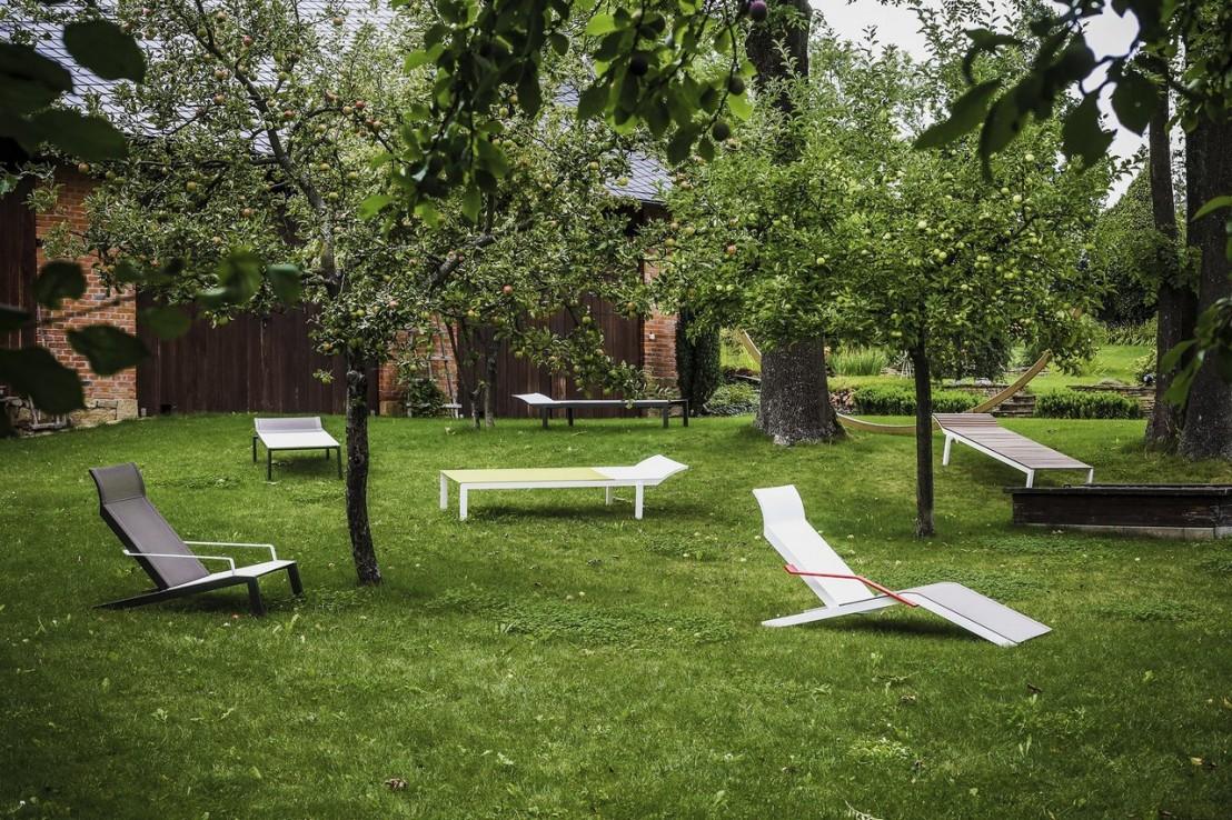 ALVA, chaise longue design contemporain extérieur pour terrasse en ...
