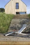 ALVA, chaise longue extérieur pour terrasse en aluminium de couleur et tissu