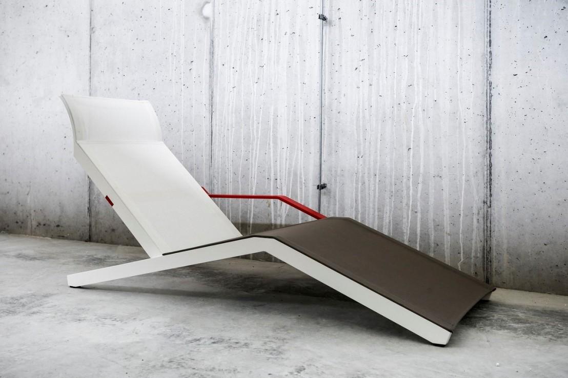Alva Chaise Longue Design Contemporain Extérieur Pour Terrasse En