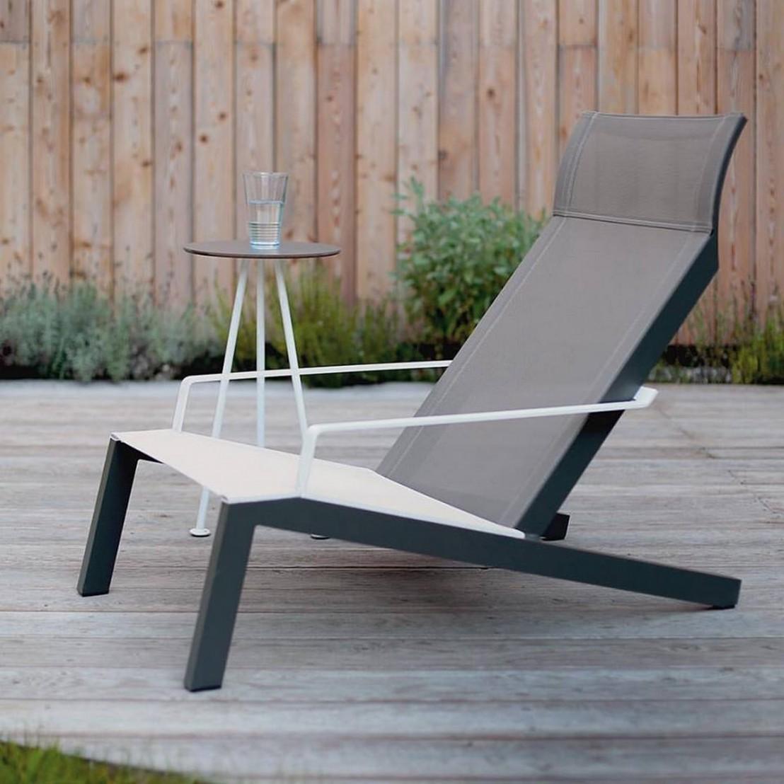Transat ALVA, fauteuil avec accoudoirs, extérieur pour jardin en ...