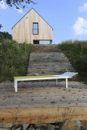 Bain de soleil ALVA, extérieur pour terrasse en aluminium de couleur et tissu