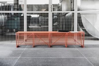 Grand Banc pour extérieur 200 cm LIMPIDO en métal acier de couleur