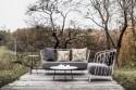 Canapé MAJ 2 places, extérieur de jardin en métal acier de couleur et tissu outdoor