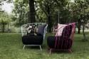 Fauteuil MAJ romantique extérieur de jardin en métal acier de couleur et tissu outdoor