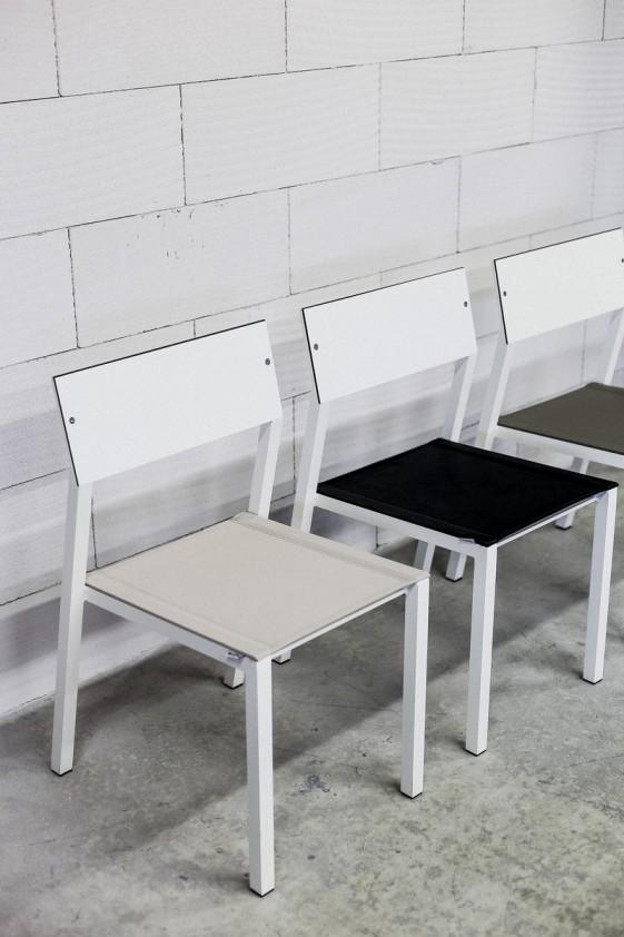 Chaise CORA Extrieur De Jardin En Mtal Aluminium Couleur Assise Tissu Outdoor