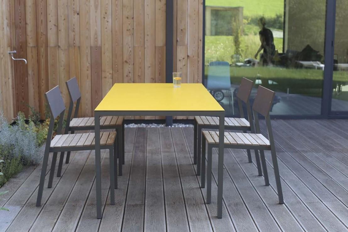 Table CORA rectangle 175 cm pour salon de jardin en métal ...