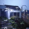 Lampadaire design courbé LED LASO pour éclairage extérieur en métal acier et aluminium de couleur