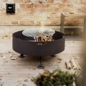 Petit brasero grill rond BACK TO FIRE pour terrasse, en acier inoxydable