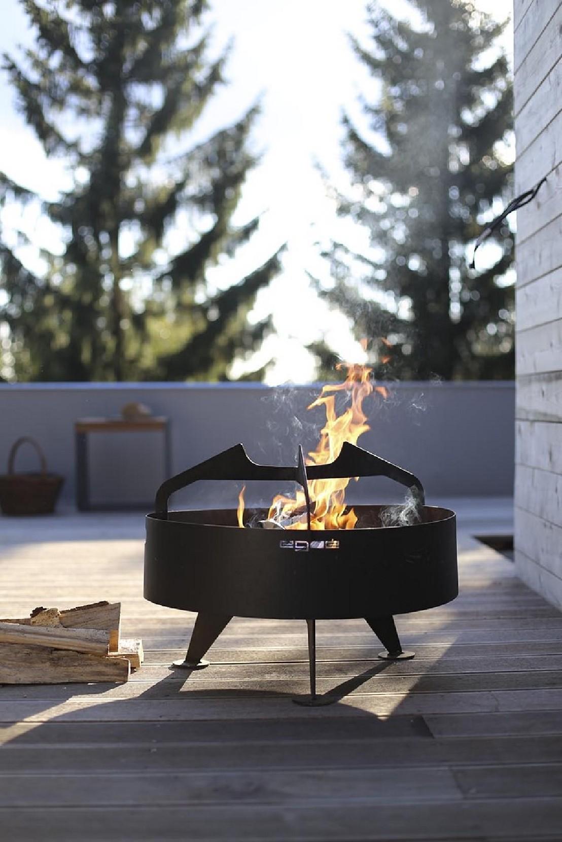 Brasero Grill Rond Back To Fire Pour Terrasse En Acier Inoxydable