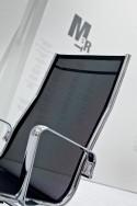Fauteuil de bureau dossier haut design LIGHT LUXY, revêtement maille