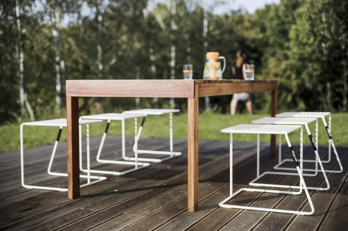 Grande table de jardin rectangulaire SENA 220 cm en bois ...