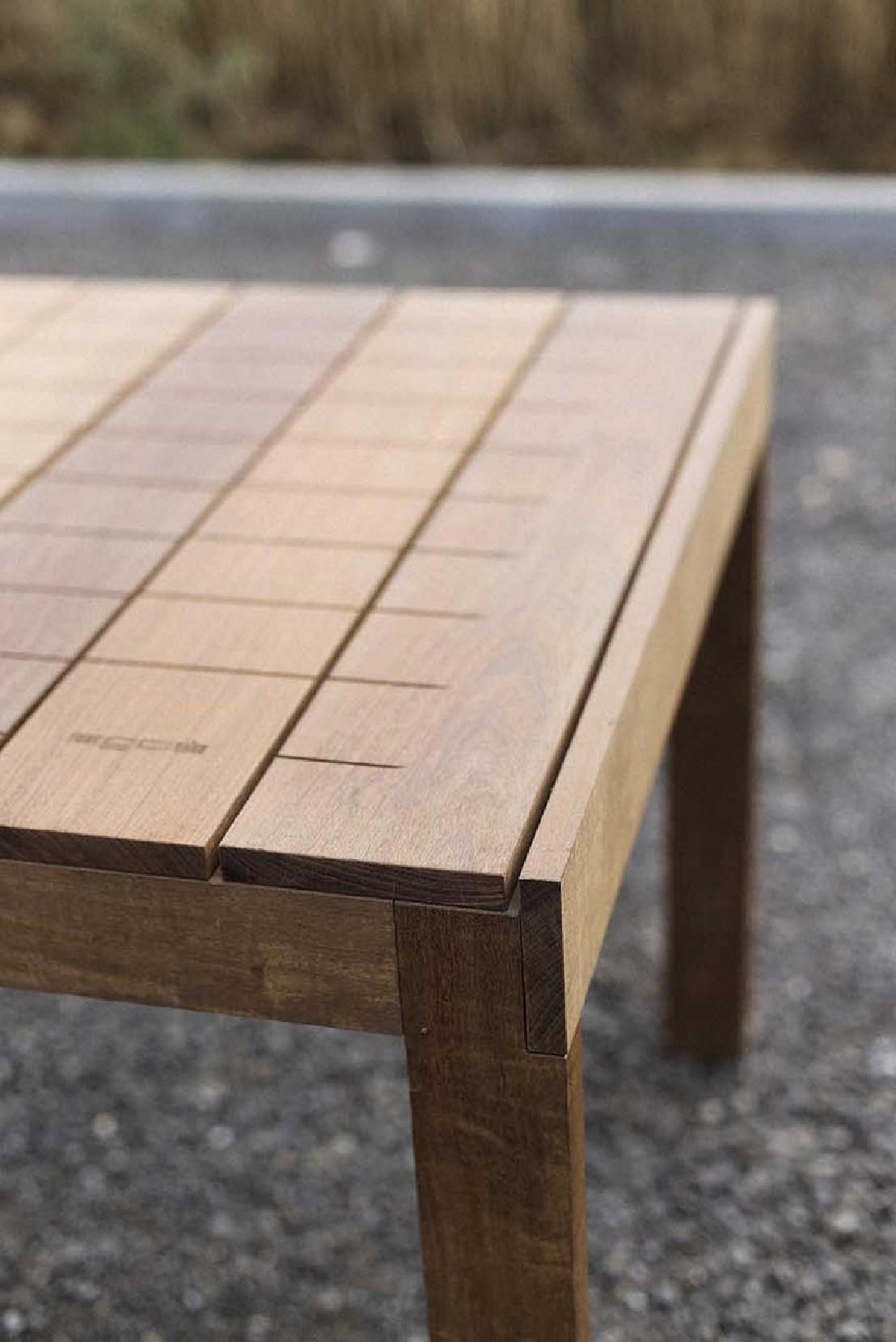 Grande table de jardin rectangulaire SENA 220 cm en bois massif d ...