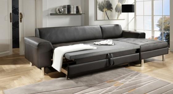 Petit canapé d'angle épuré avec petite chaise longue JANIS.BB