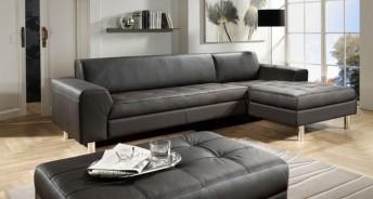 Petit canapé d'angle pour petit appartement cuir JANIS.BB