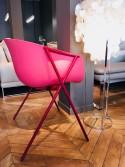 Fauteuil ANDERSSON lot de 2, coque polypropylène de couleur, tapissage intérieur