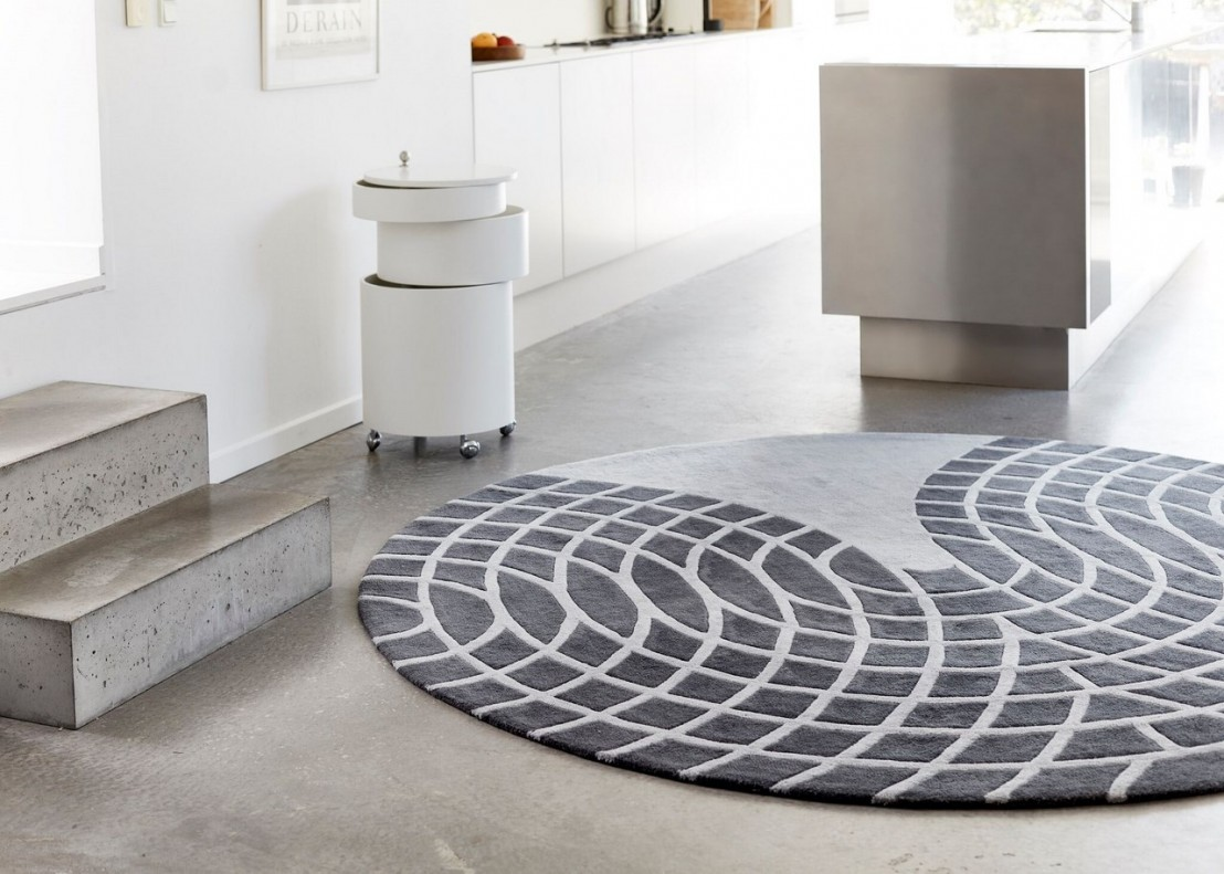 tapis verner panton gris fonc gris clair. Black Bedroom Furniture Sets. Home Design Ideas