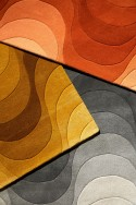 Tapis WAVE VERPAN orange de Verner PANTON en laine