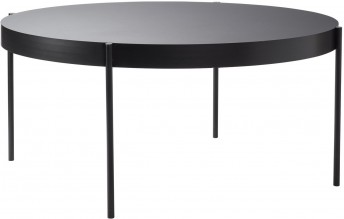 Grande table ronde SERIES 430 noire diamètre 160 cm, Verpan