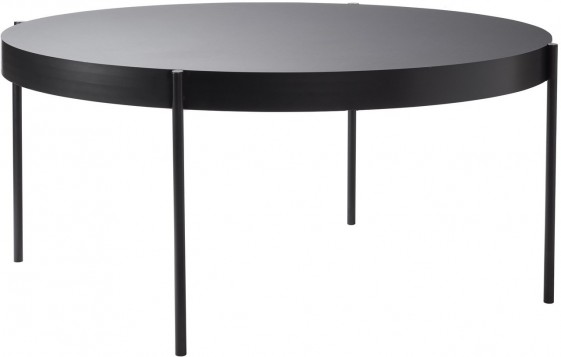 Table ronde SERIES 430 noire diamètre 160 cm, Verpan