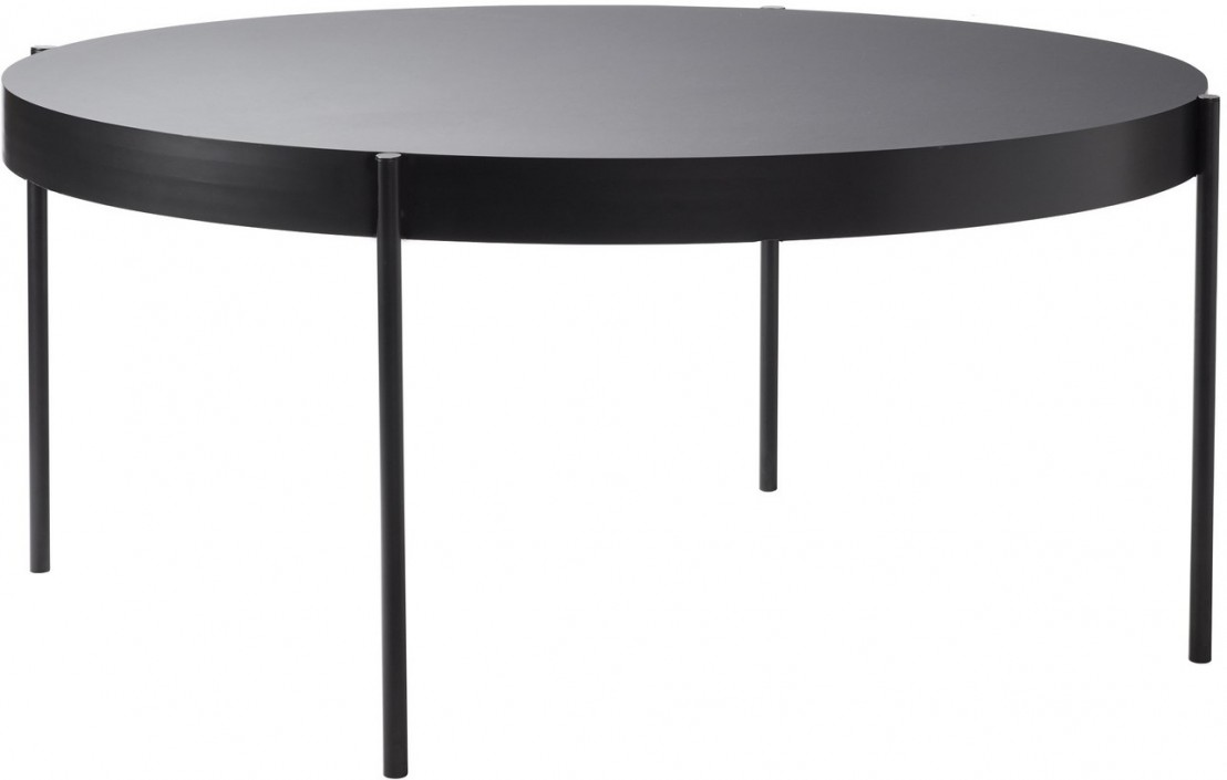 Grande table ronde SERIES 430 noire diamètre 160 cm