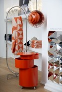 Plaid Verpan MIRROR en pure laine Mérino orange