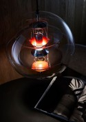 VP GLOBE VERPAN 40 cm avec réflecteurs en verre fumé, lampe à suspendre