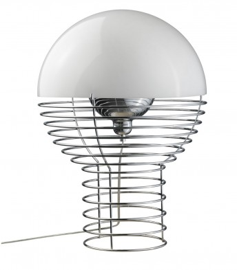 Lampe de table WIRE Verpan blanche