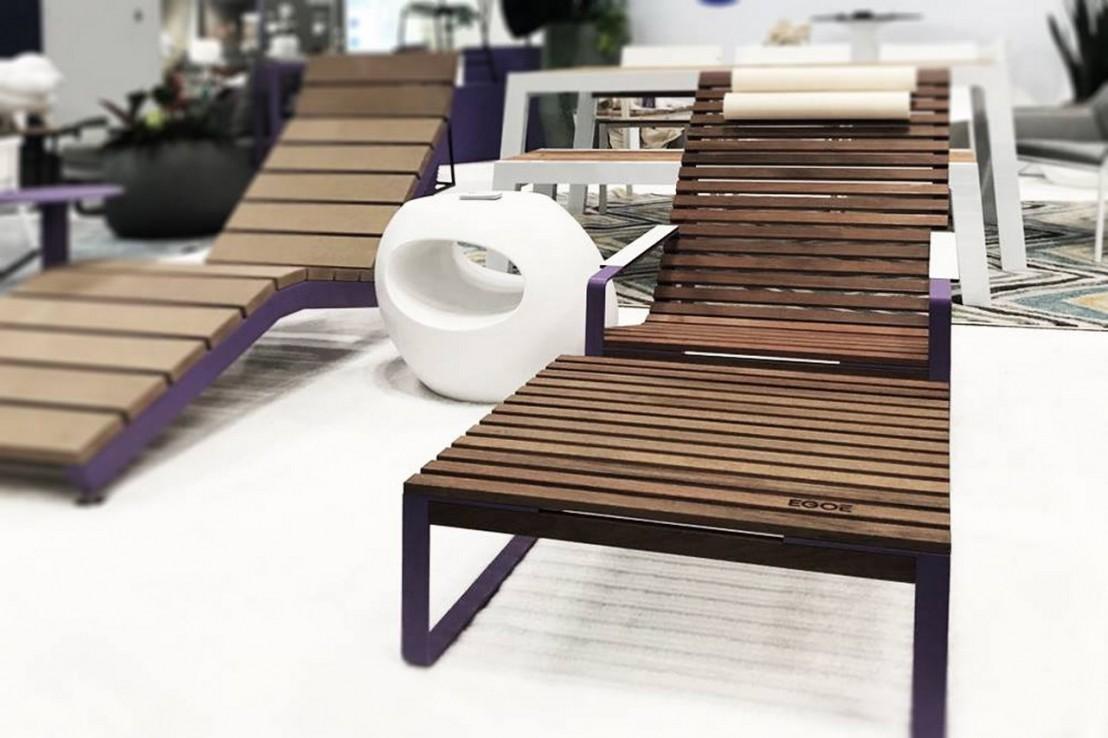 chaise longue jardin bois et metal HtII9X9