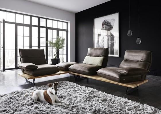 Canapé d'angle ultra design 3 places HYPEnMIAMI, assises indépendantes-pivotantes et relax