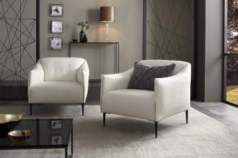 DIXIE.MISS petit fauteuil design en cuir ou tissu