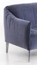 Canapé d'angle 3,5 places DIXIE.MISS petite chaise longue asymétrique tissu ou cuir