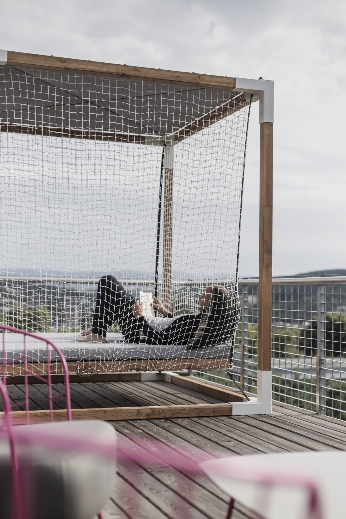 Lit De Jardin Hamac Suspendu En Cage Leva Mobilier De