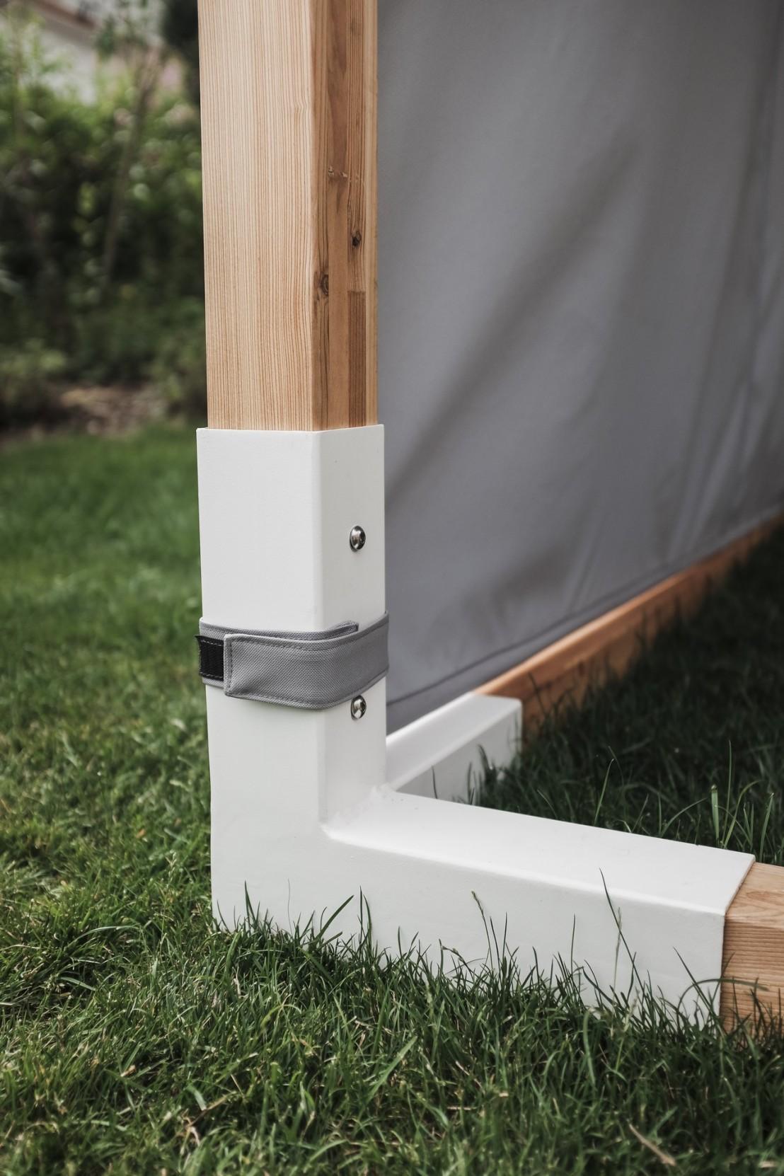 lit de jardin hamac suspendu en cage leva mobilier de jardin egoe. Black Bedroom Furniture Sets. Home Design Ideas