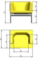 Petit fauteuil PONTE LUXY