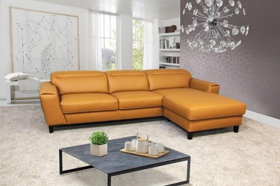 AM.MISTY canapé d'angle 3,5 places avec chaise longue appuies-tête multi-positions cuir ou tissu