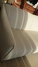 Petit salon en cuir blanc pleine fleur compact DIXIE.MISS
