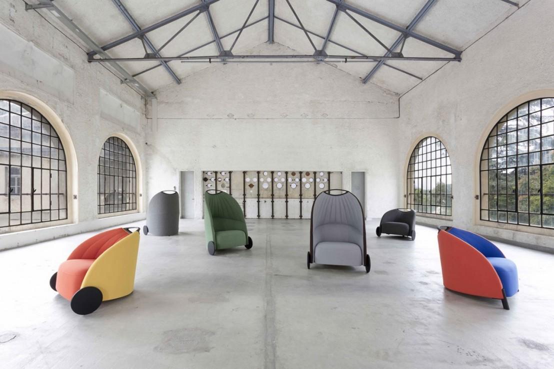 petit fauteuil biga design dossier bas en tissu. Black Bedroom Furniture Sets. Home Design Ideas