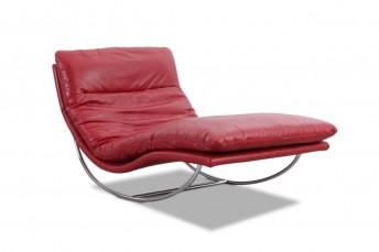 Chaise longue design à bascule ROCKYOU XXL relaxation cuir ou tissu
