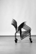 Lot de 4 chaises de conférence FLEX, design Verner PANTON, empilable