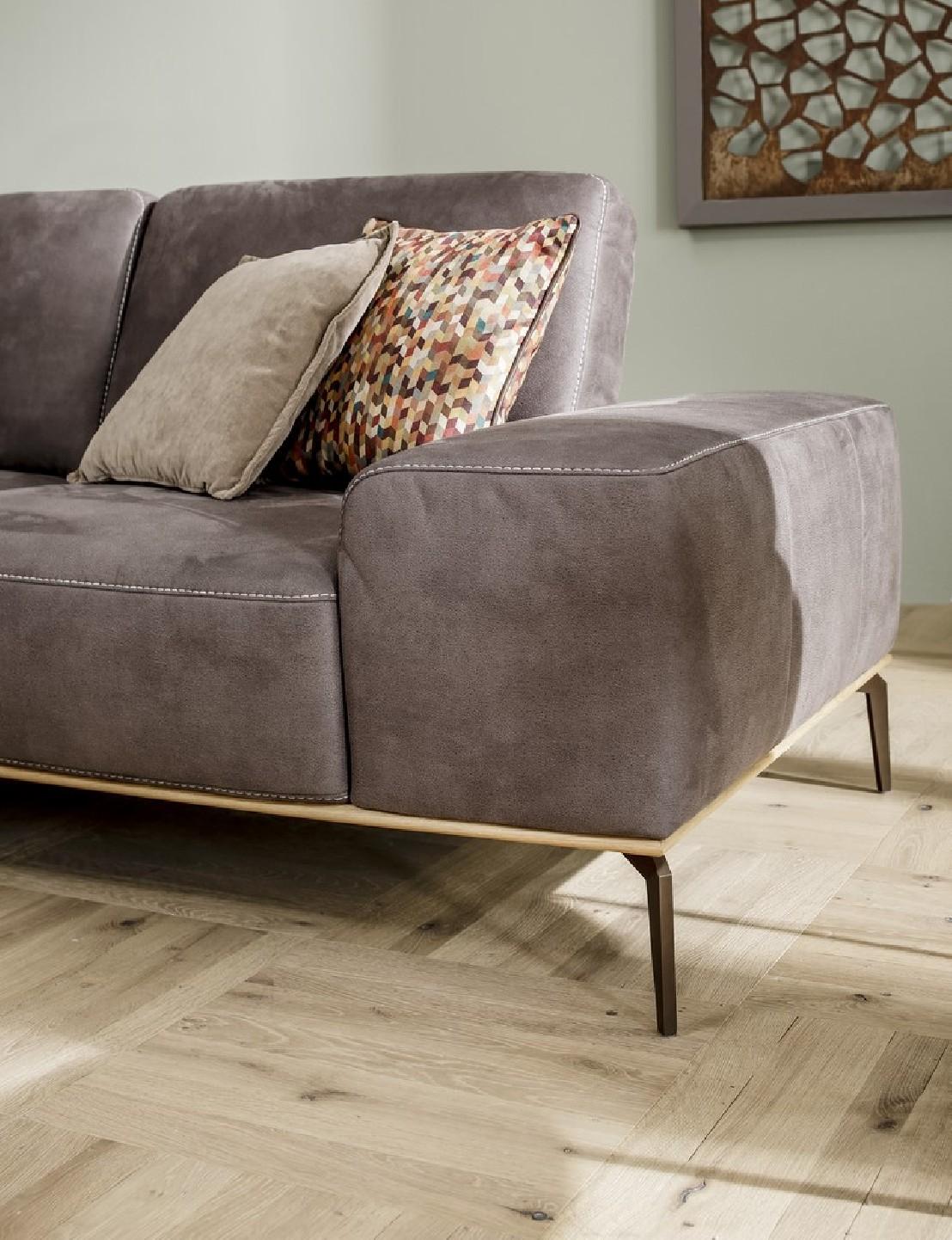 canap cuir angle design base bois little prince. Black Bedroom Furniture Sets. Home Design Ideas