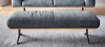 Grand pouf HONNORE.PM cuir ou tissu design